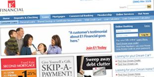 Credit Union Website Design | Fusionbox Work | E1 FCU